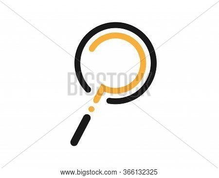 Loupe Icon With Question Mark Inside. Magnifying Glass Symbol. Isolated Zoom Icon To Find Or Search.
