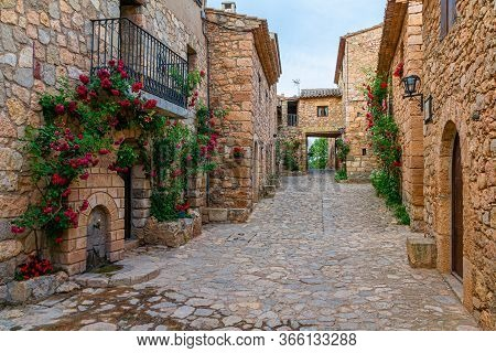 The Old Street In The Old Village. Siurana, Catalonia, Spain