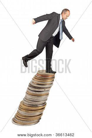 Unbalanced Businessman