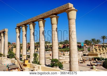 Sharm El Sheikh, Egypt -  November 29: The Hotel Decorated By Ruins In Traditional Egyptian Style On