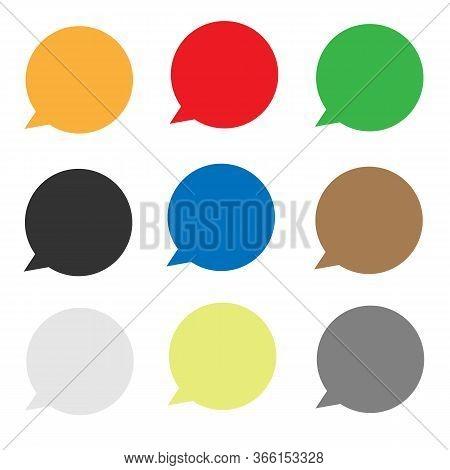 Set Speech Bubble Icon On White Background. Flat Style. Speech Bubble Icon For Your Web Site Design,
