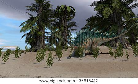 green kentrosaurus