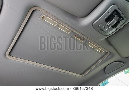 Novosibirsk/ Russia - May 03 2020: Brilliance V5, Close-up Of The Hatch On Gray Roof. Modern Car Int