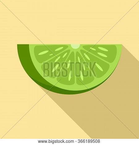 Lime Piece Icon. Flat Illustration Of Lime Piece Vector Icon For Web Design