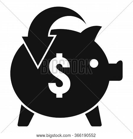 Piggy Bank Cash Back Icon. Simple Illustration Of Piggy Bank Cash Back Vector Icon For Web Design Is