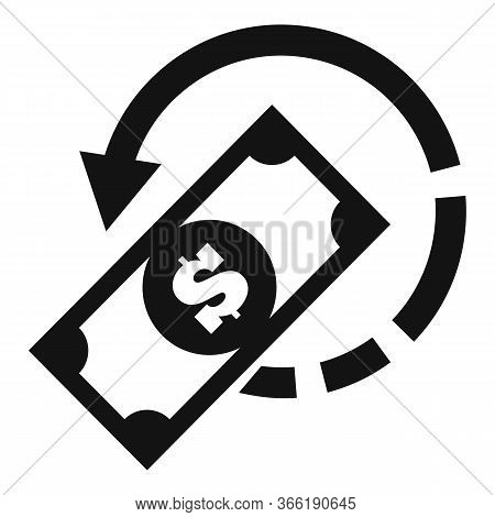 Pay Money Cash Back Icon. Simple Illustration Of Pay Money Cash Back Vector Icon For Web Design Isol