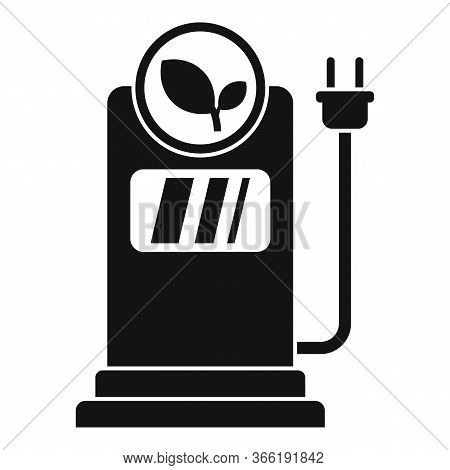 Eco Electrical Refueling Icon. Simple Illustration Of Eco Electrical Refueling Vector Icon For Web D