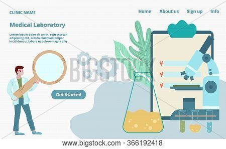 Diagnostics In Medical Labaratory Covid-19 Virus Test And Prevention Vector Flat Illustration With D