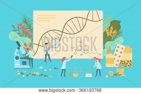 Medical Labaratory Coronavirus Covid-19 Virus Vaccine Research And Medicine Vector Flat Illustration