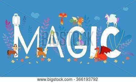 Mythical, Mythological Creates, Magic Animals - Unicorn, Jackalope, Phoenix, Pegasus, Cerberus, Grif