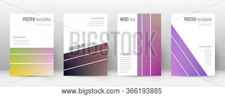 Flyer Layout. Geometric Dramatic Template For Brochure, Annual Report, Magazine, Poster, Corporate P