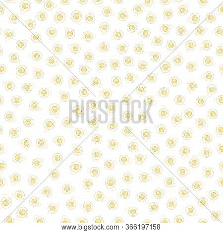 Ditzy Champagne Bubbles Vector Seamless Pattern Background. Hand Drawn Fizzy Droplets White Gold Bac