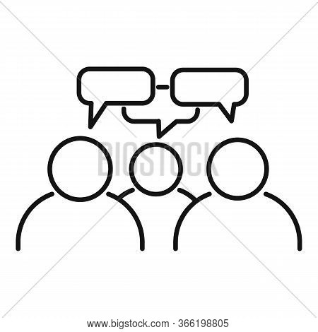 Teamwork Conversation Icon. Outline Teamwork Conversation Vector Icon For Web Design Isolated On Whi