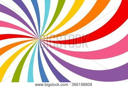 Colored Bright Rays Vector Carnival Background. Circus Themed Sunlight. Holiday Abstract Retro Vecto