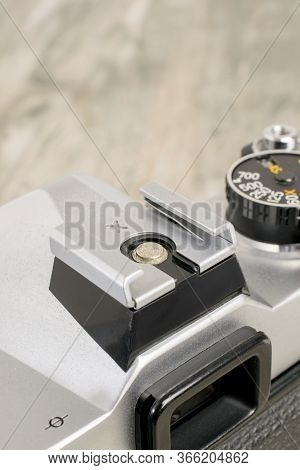 Niedersachsen, Germany May 5, 2020: A Close Up Of A Hotshoe Connection For An Electronic Flash On A
