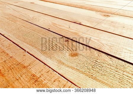 Piles Of Wooden Boards In The Sawmill, Planking. Wood Timber Stack Of Wooden Blanks Construction Mat
