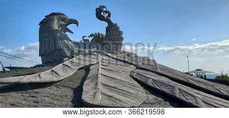 Kollam, Kerala, India - January 07, 2020: Sculpture Of Jatayu, A Divine Bird From Ramayana, In Jatay