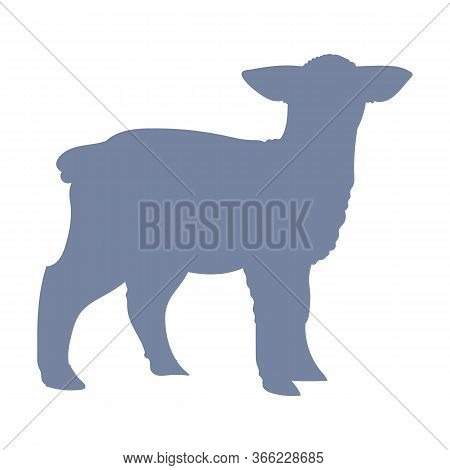 Cute French Farmhouse Lamb Silhouette Vector Clipart. Hand Drawn Shabby Chic Style Country Farm Kitc