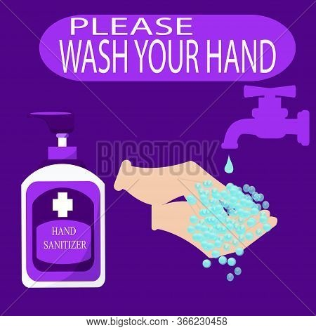 Hand Sanitizer, Vector Hand Sanitizer Symbol Alcohol Bottle For Hand Sanitation Vector Concept Banne