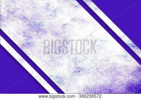 A Diagonal, Purple And Blue Splattered Watercolor Banner Above A Purple Abstract Corner Design On Op