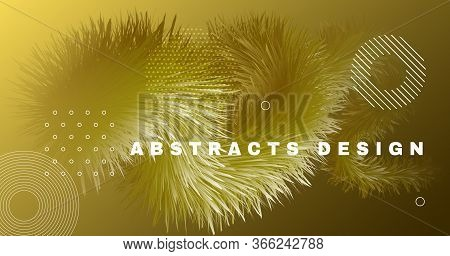Gold Gradient Background. Flow Vibrant Movement. Graphic Concept. Vector Bright Gradient Background.
