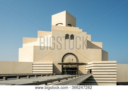 Doha, Qatar - October 13, 2019: View Of Museum Of Islamic Art, One Of The World's Most Complete Coll
