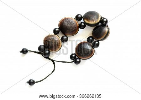 Beautiful Female Ethnic Wood Bracelet. Exquisite Composing Bracelet Made Of Natural Hypoallergenic M