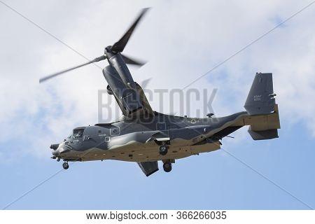 Fairford / United Kingdom - July 12, 2018: United States Air Force Usaf Boeing Cv-22b Osprey 08-0050