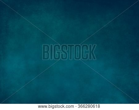 Abstract Cyan Blue Stained Paper Texture Background Or Backdrop. Empty Cyan Blue Paperboard Or Grain