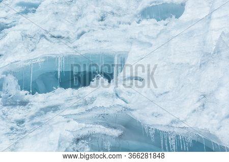 Pastoruri Glacier, in the Huascaran National Park, Huaraz / Peru. Tropical glacier at 5200 meters ab