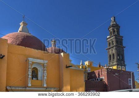Church Of San Francisco Templo De San Francisco Puebla Mexico.  Church Built In 1500s.church Of San