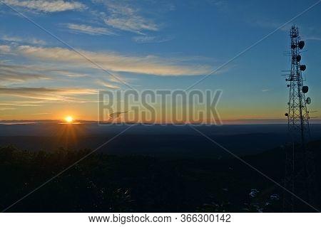 Sunset, Panoramic View From The Top Of Morro Pai Inacio In Bahia