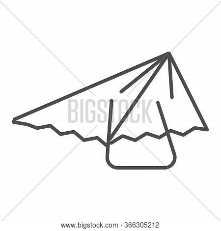 Hang Glider Thin Line Icon, Extreme Sport Activity Symbol, Paragliding Vector Sign On White Backgrou