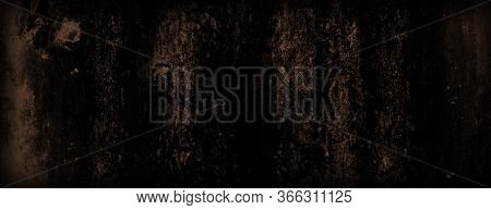 Abstract Grunge Decorative Brown Dark Wall Background. Brown Concrete Backgrounds With Rough Texture