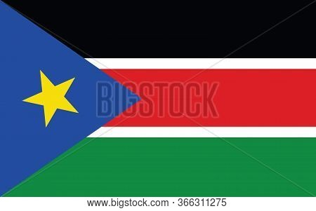 South Sudan Flag Vector Graphic. Rectangle South Sudanese Flag Illustration. South Sudan Country Fla