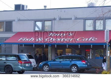 Vancouver, Canada - February 29, 2020: View Of Restaurant