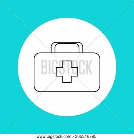 First Aid Kit Icon.first Aid.outline Drawing.first Aid Kit Icon In The Circle.vector Illustration