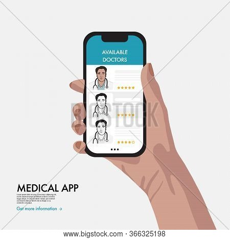 Virtual Medical Help, Online Healthcare App With Doctors Review, Set Up An Appointment System, Ratin
