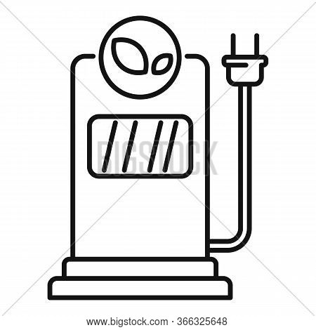 Eco Electrical Refueling Icon. Outline Eco Electrical Refueling Vector Icon For Web Design Isolated