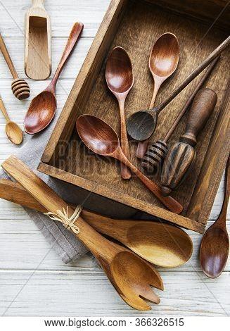 Wooden Cutlery Kitchen Ware
