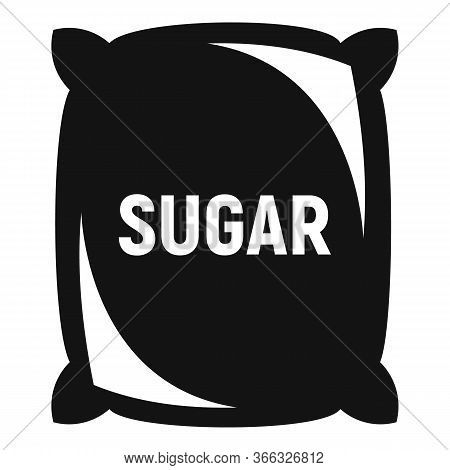 Sugar Sack Icon. Simple Illustration Of Sugar Sack Vector Icon For Web Design Isolated On White Back