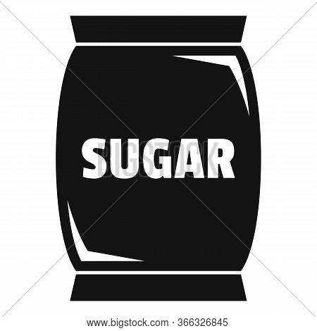 Sugar Textile Sack Icon. Simple Illustration Of Sugar Textile Sack Vector Icon For Web Design Isolat