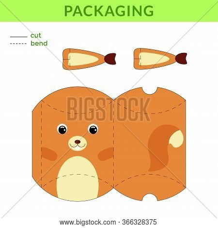 Adorable Diy Party Favor Box For Birthdays, Baby Showers With Cute Squirrel For Sweets, Candies, Sma