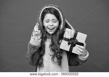 Hope For The Best. Girl In Bunny Pajamas. Child In Rabbit Kigurumi. Happy Girl In Cute Pajamas. Life