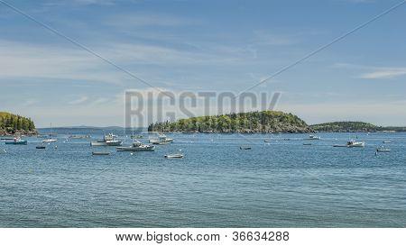 Fishing Boats At Bar Harbor Maine