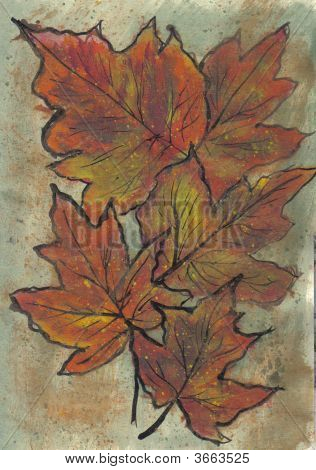 Painting Fall Maple Leaves