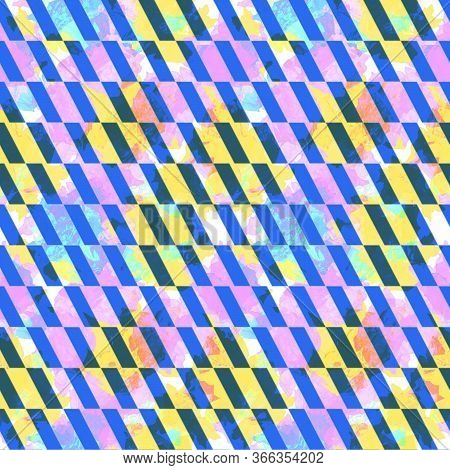Seamless Diagonal Lines Pattern. Slanting Lines. Abstract Geometric Background Design