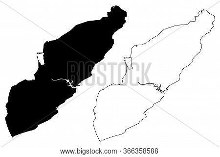Visakhapatnam City (republic Of India, Andhra Pradesh State) Map Vector Illustration, Scribble Sketc