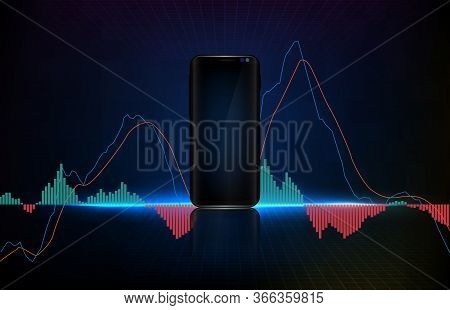 Abstract Background Of Trading Stock Market Macd Indicator Technical Analysis Graph, Moving Average
