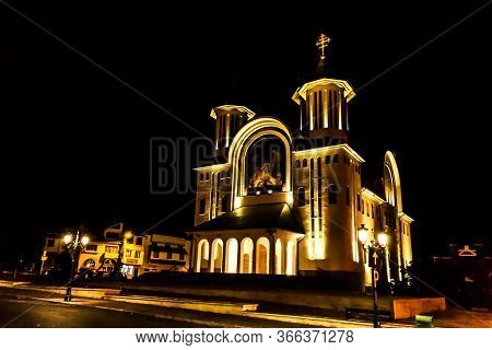 Drobeta Turnu Severin, Romania - September 07, 2019: Resurrection Episcopal Cathedral Or The  Saint